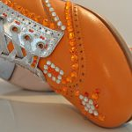 Orange and Silver Tap Shoes